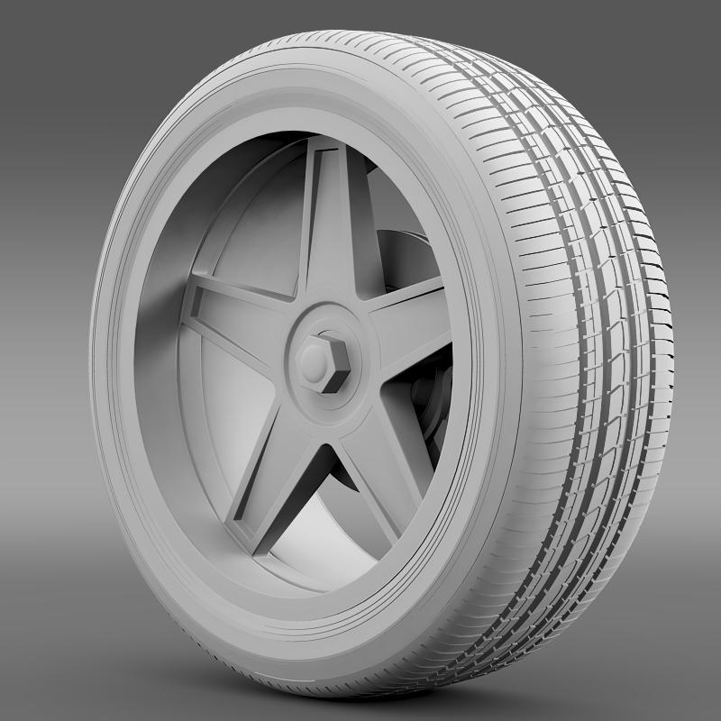 ford_mustang gtr 2005 wheel 3d model 3ds max fbx c4d lwo ma mb hrc xsi obj 139878