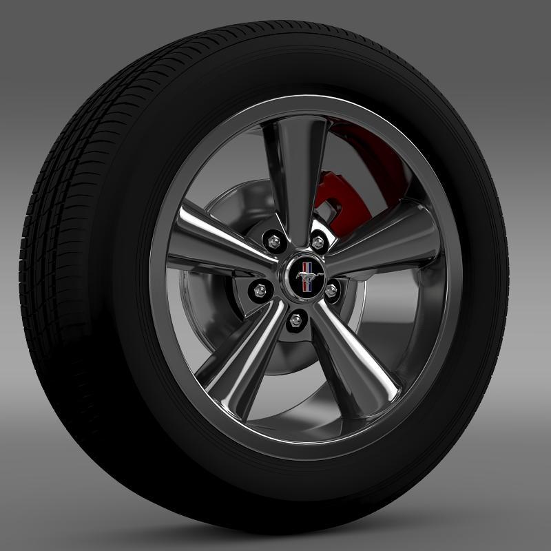 ford_mustang shelby gt convert 2008 wheel 3d model 3ds max fbx c4d lwo ma mb hrc xsi obj 139910