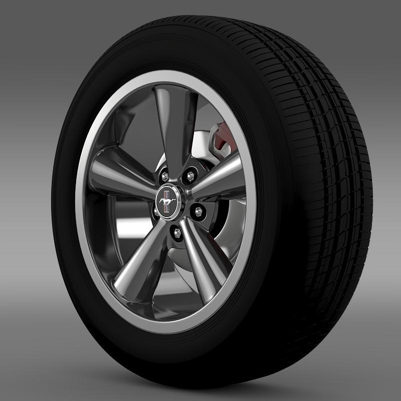 ford_mustang shelby gt convert 2008 wheel 3d model 3ds max fbx c4d lwo ma mb hrc xsi obj 139911
