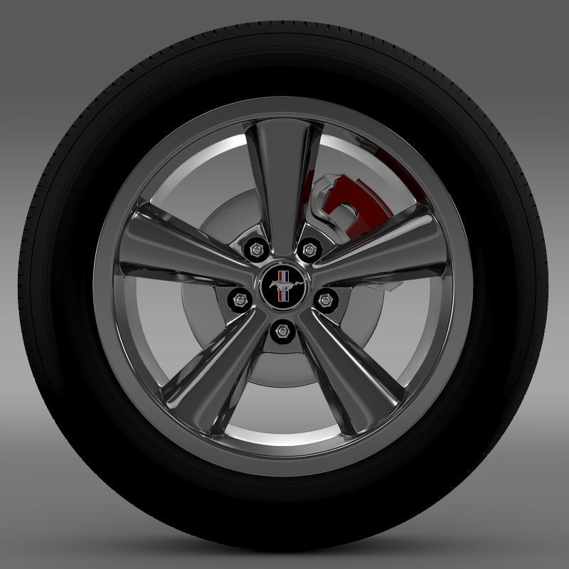 ford_mustang shelby gt convert 2008 wheel 3d model 3ds max fbx c4d lwo ma mb hrc xsi obj 139912