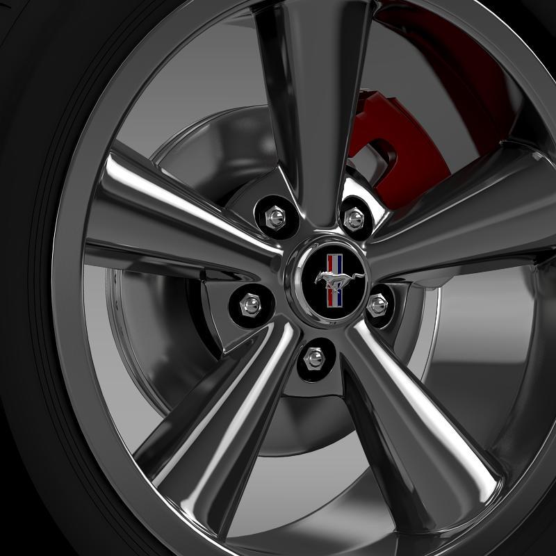 ford_mustang shelby gt convert 2008 wheel 3d model 3ds max fbx c4d lwo ma mb hrc xsi obj 139913