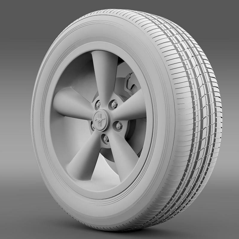 ford_mustang shelby gt convert 2008 wheel 3d model 3ds max fbx c4d lwo ma mb hrc xsi obj 139917