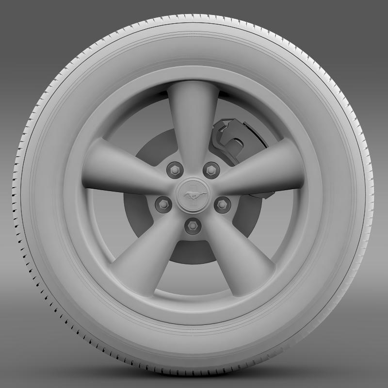 ford_mustang shelby gt convert 2008 wheel 3d model 3ds max fbx c4d lwo ma mb hrc xsi obj 139918