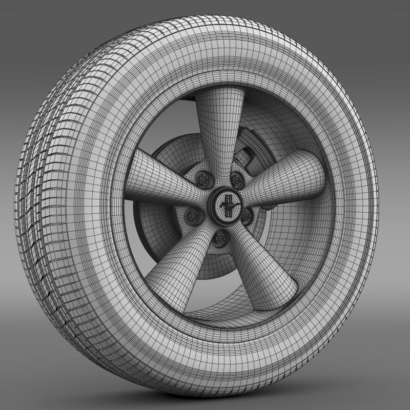 ford_mustang shelby gt convert 2008 wheel 3d model 3ds max fbx c4d lwo ma mb hrc xsi obj 139922