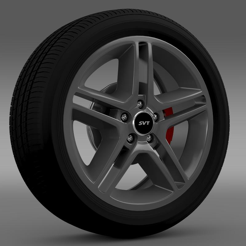 ford_mustang shelby gt500 2010 wheel 3d model 3ds max fbx c4d lwo ma mb hrc xsi obj 139884
