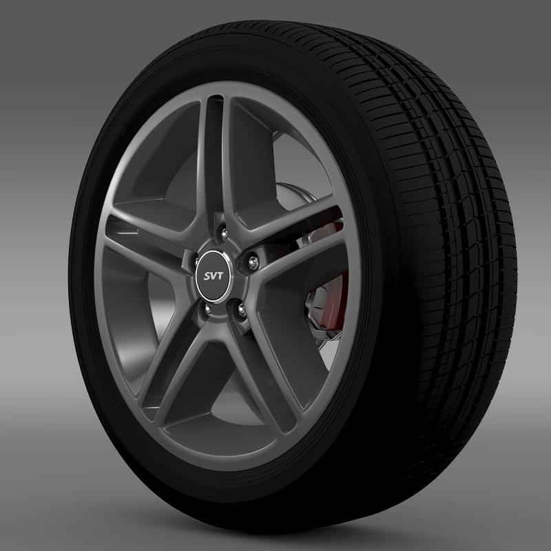 ford_mustang shelby gt500 2010 wheel 3d model 3ds max fbx c4d lwo ma mb hrc xsi obj 139885