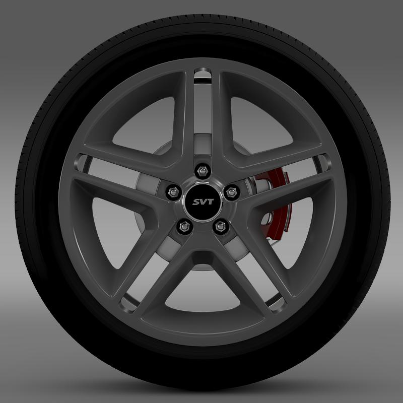 ford_mustang shelby gt500 2010 wheel 3d model 3ds max fbx c4d lwo ma mb hrc xsi obj 139886