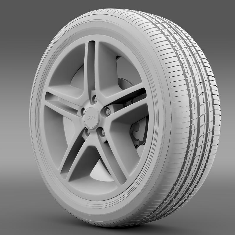 ford_mustang shelby gt500 2010 wheel 3d model 3ds max fbx c4d lwo ma mb hrc xsi obj 139891