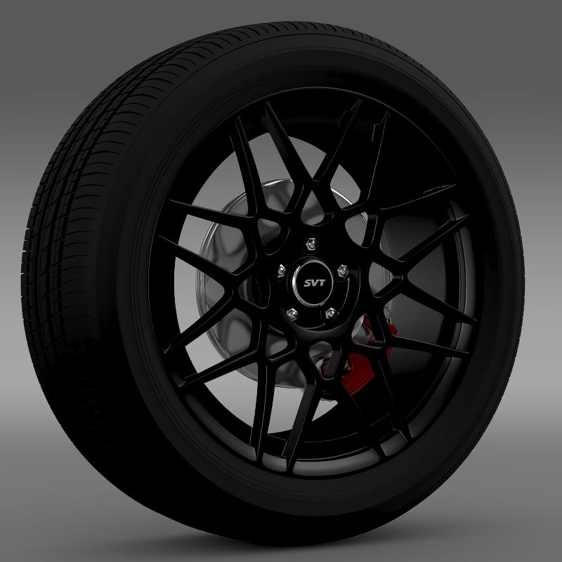 Ford Mustang Shelby GT500 2013 wheel 3D Model – Buy Ford