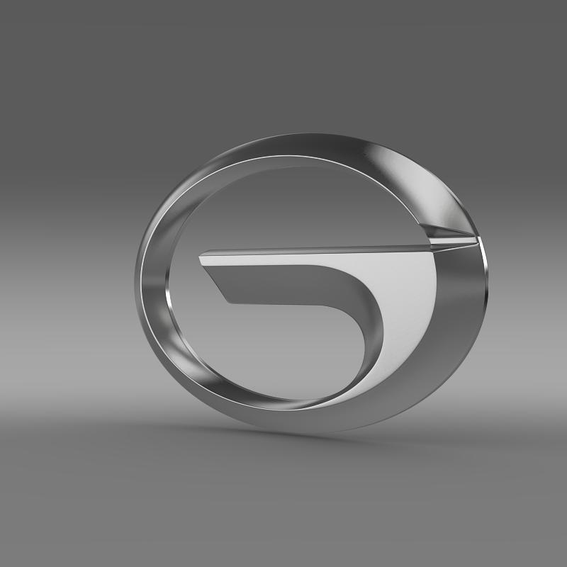 gac logo 3d model 3ds max fbx c4d lwo ma mb hrc xsi obj 162737