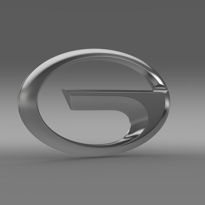 gac logo 3d model 3ds max fbx c4d lwo ma mb hrc xsi obj 162739