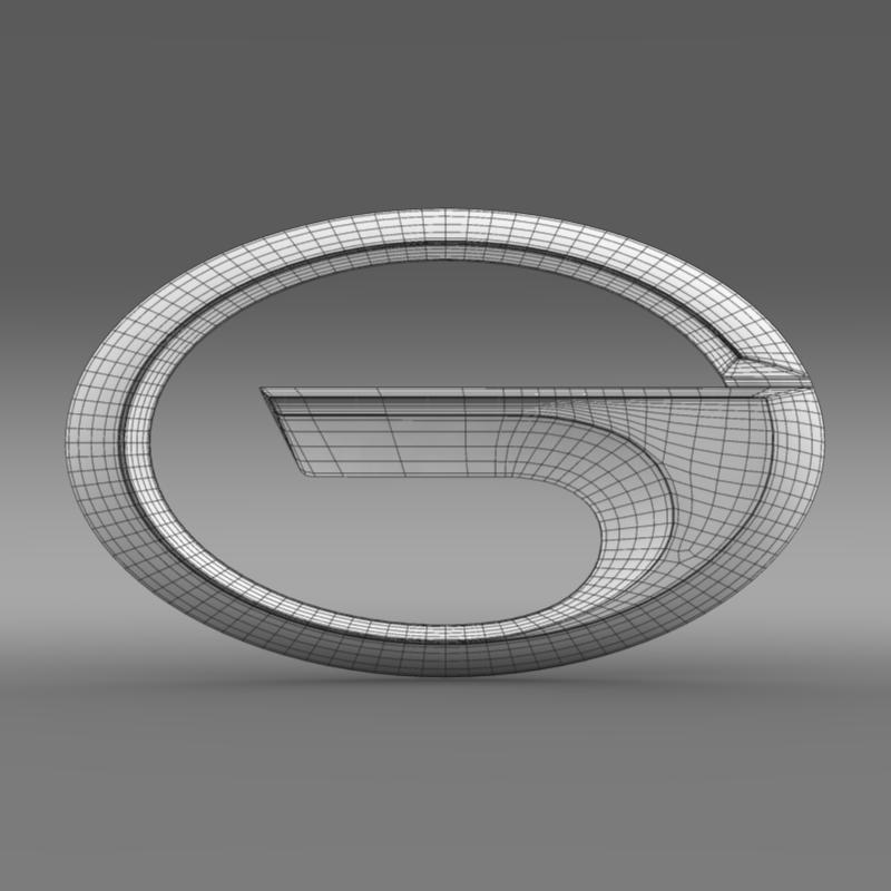 gac logo 3d model 3ds max fbx c4d lwo ma mb hrc xsi obj 162743