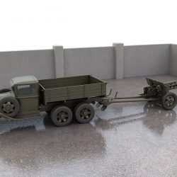 GAZ-AAA truck with antitank gun ZiS-3 ( 261.7KB jpg by S.E )
