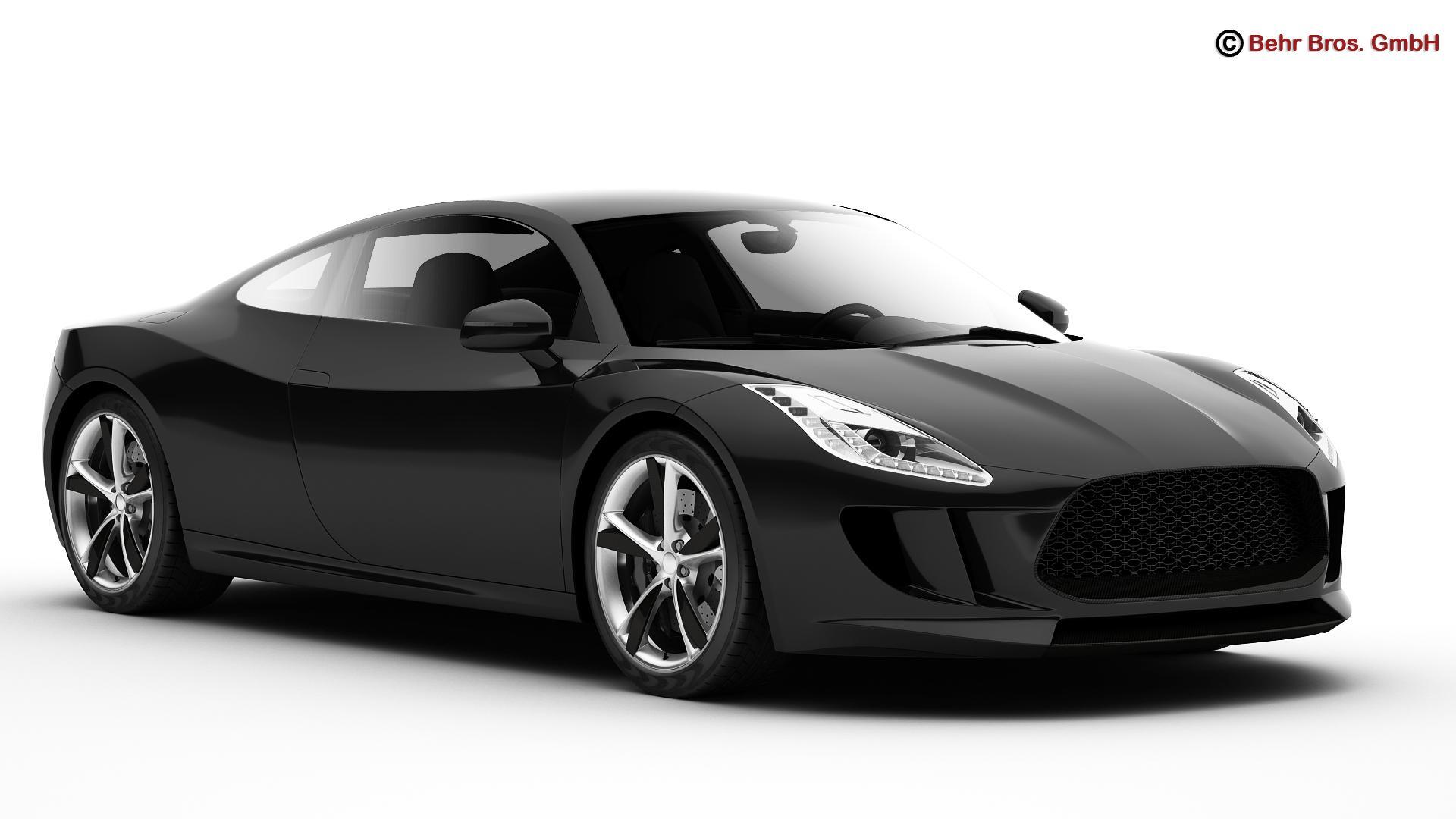 generic sports car 3d model 3ds max fbx c4d lwo ma mb obj 160518