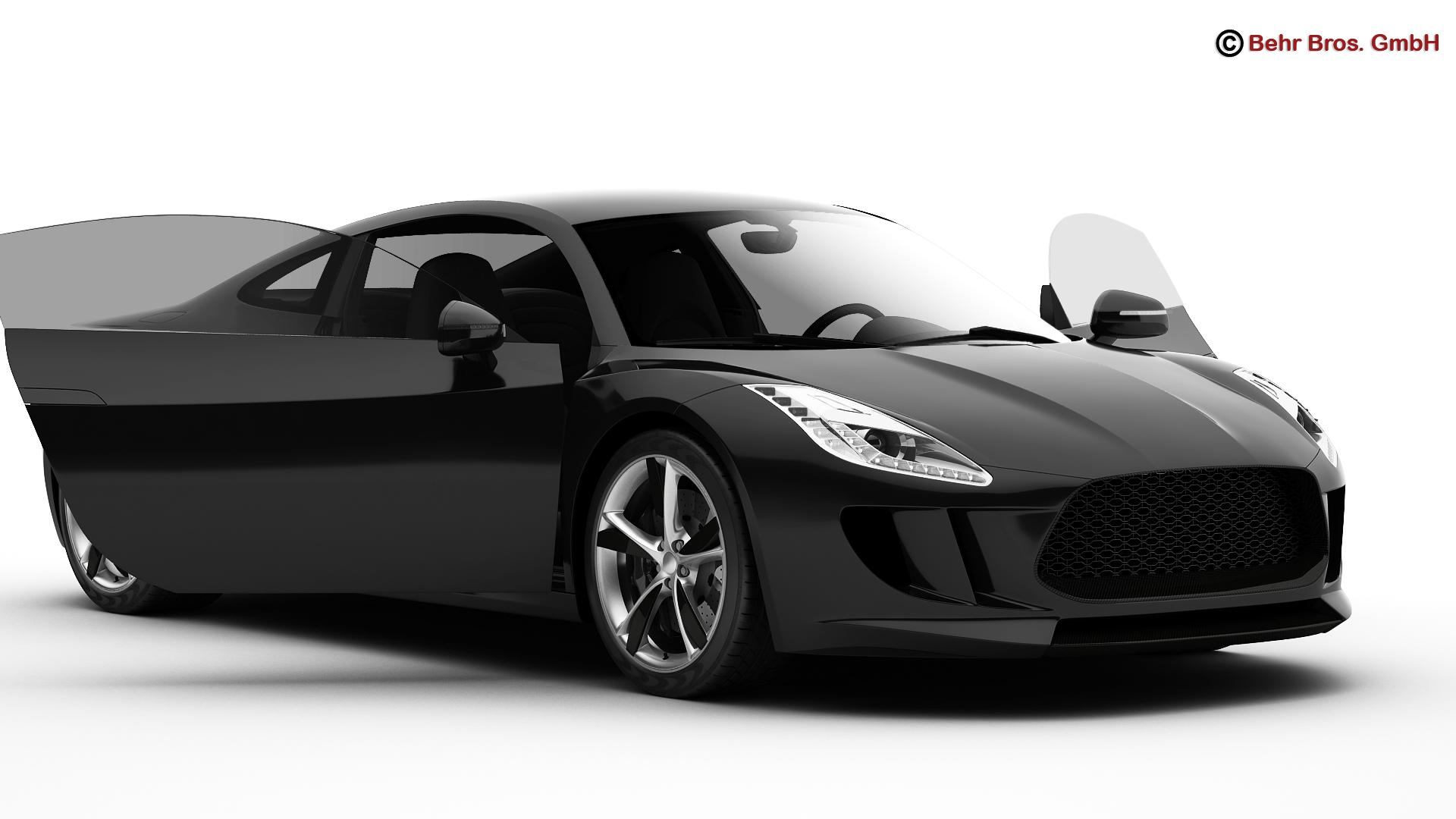 generic sports car 3d model 3ds max fbx c4d lwo ma mb obj 160520