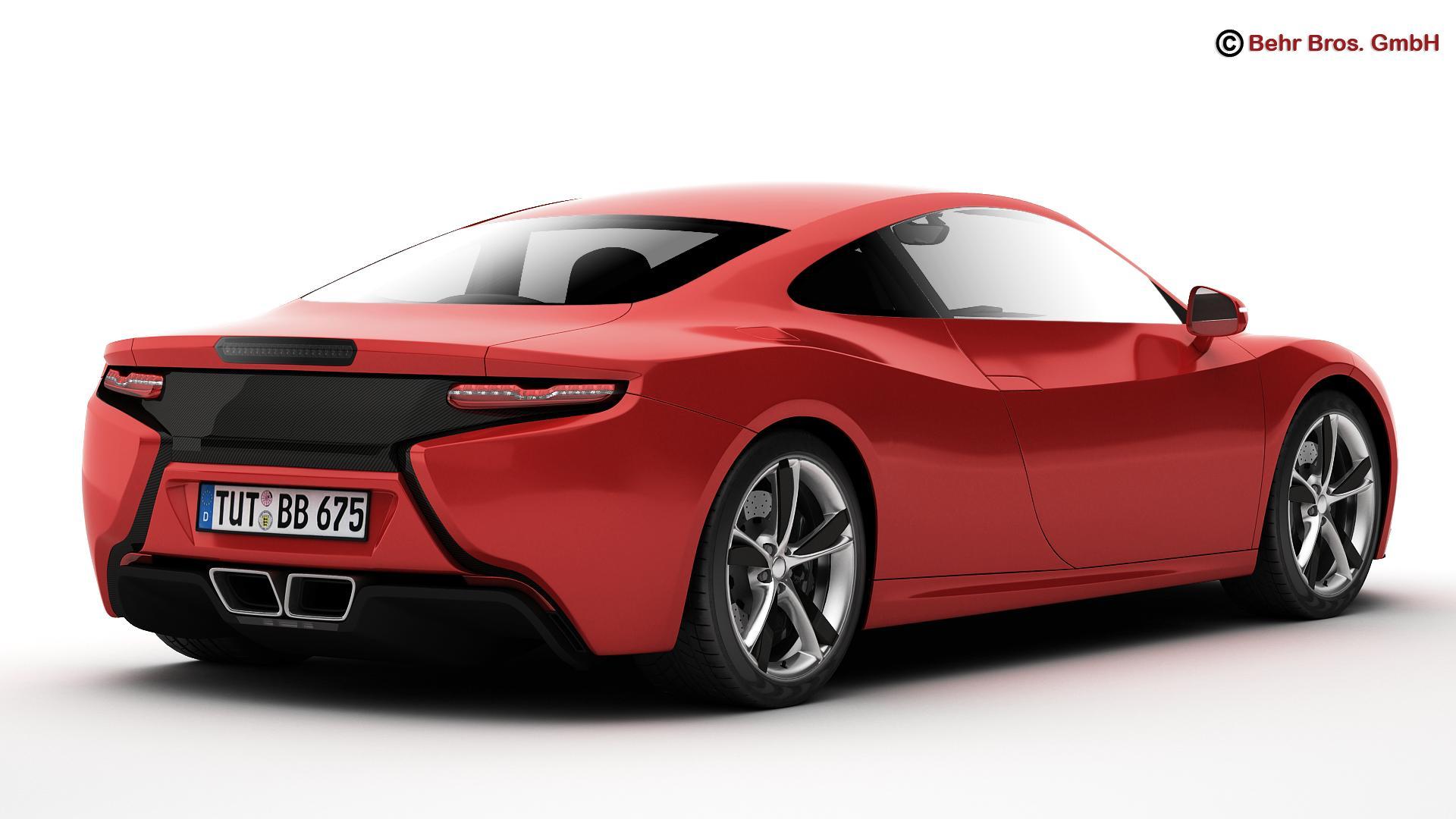 generic sports car 3d model 3ds max fbx c4d lwo ma mb obj 160521