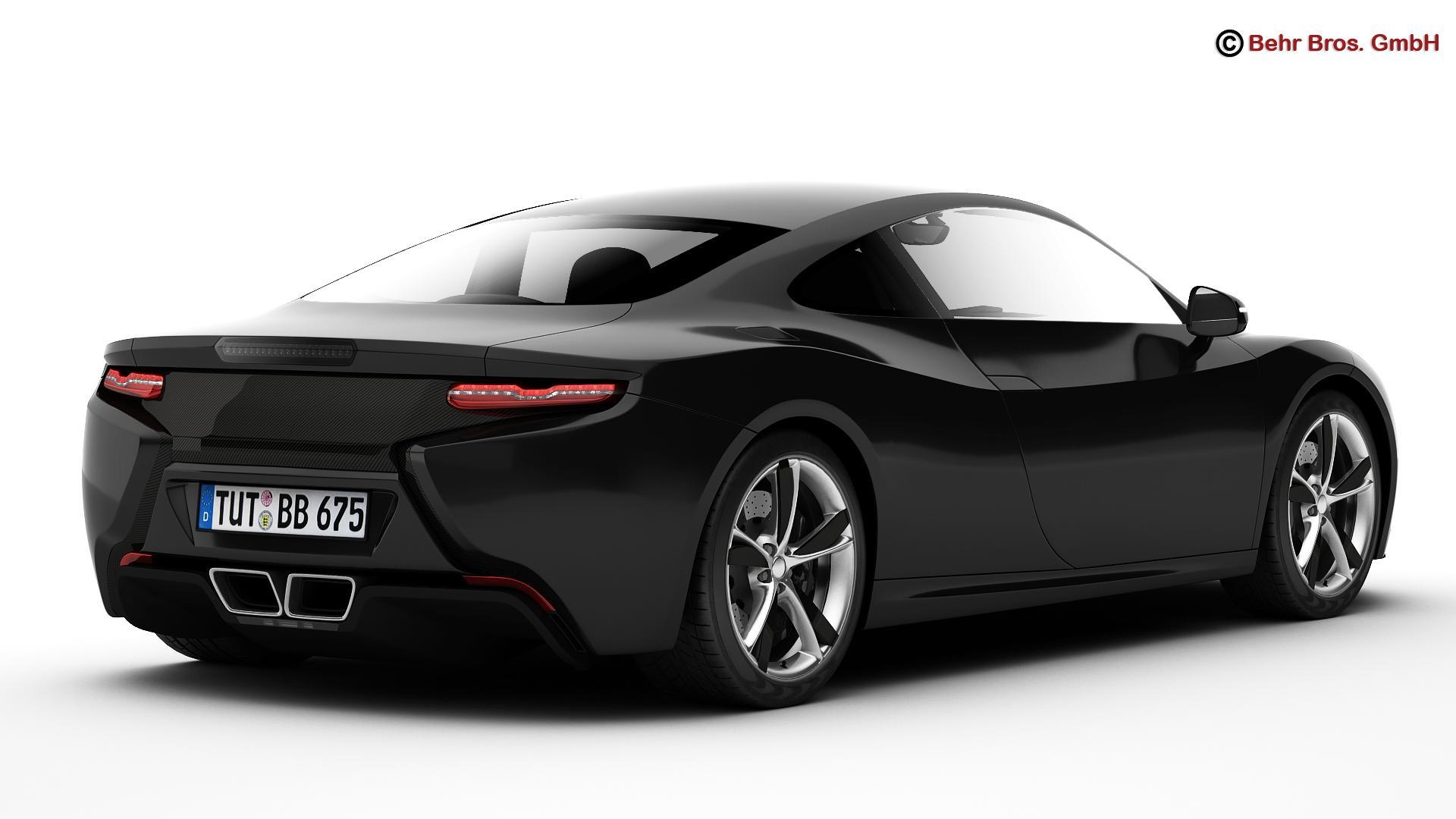 generic sports car 3d model 3ds max fbx c4d lwo ma mb obj 160522