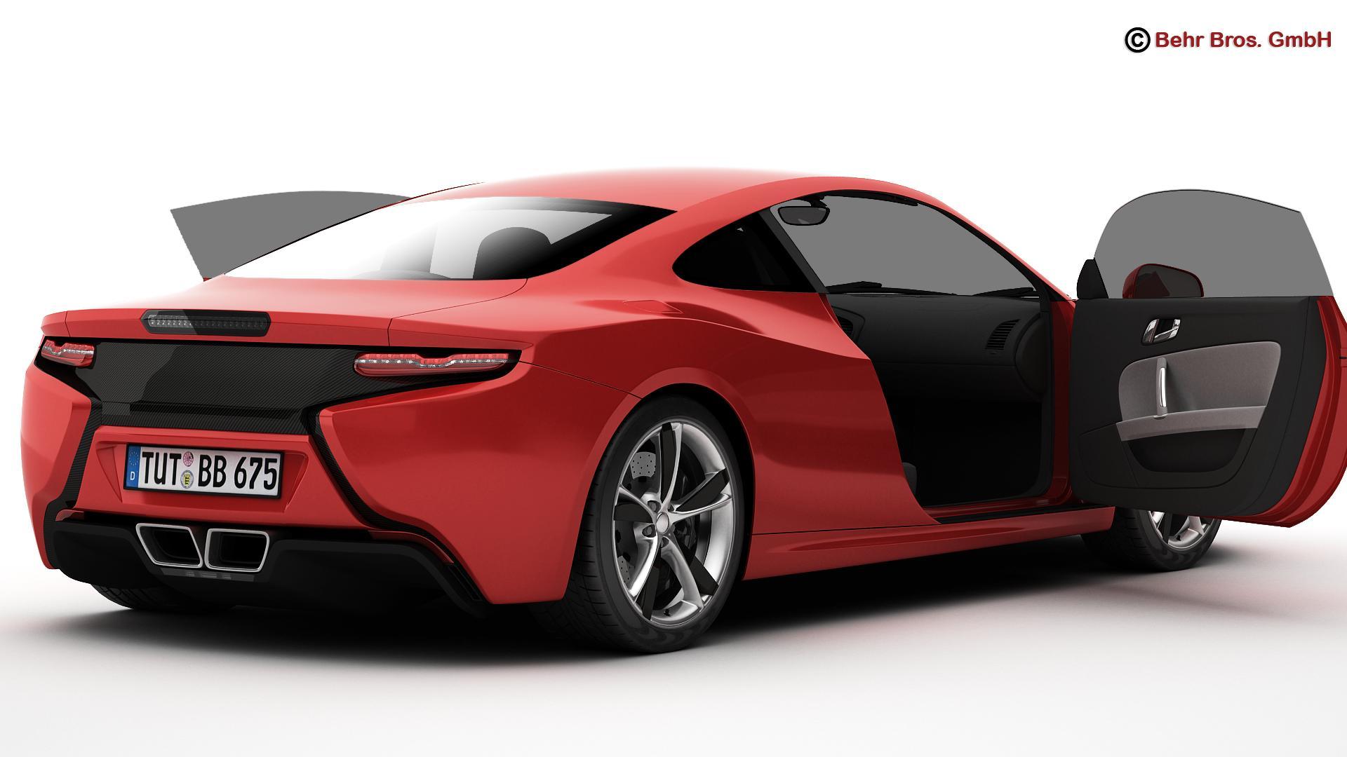 generic sports car 3d model 3ds max fbx c4d lwo ma mb obj 160523