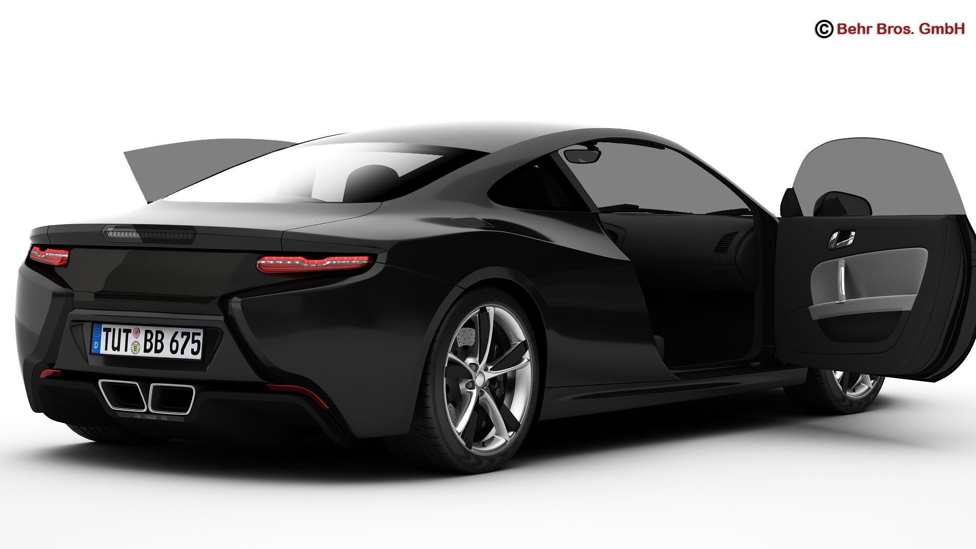 generic sports car 3d model 3ds max fbx c4d lwo ma mb obj 160524