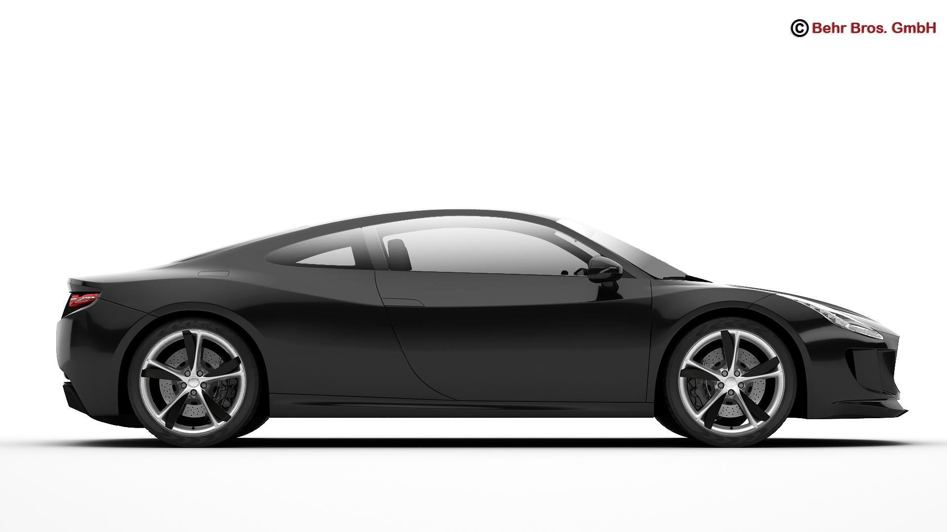 generic sports car 3d model 3ds max fbx c4d lwo ma mb obj 160525
