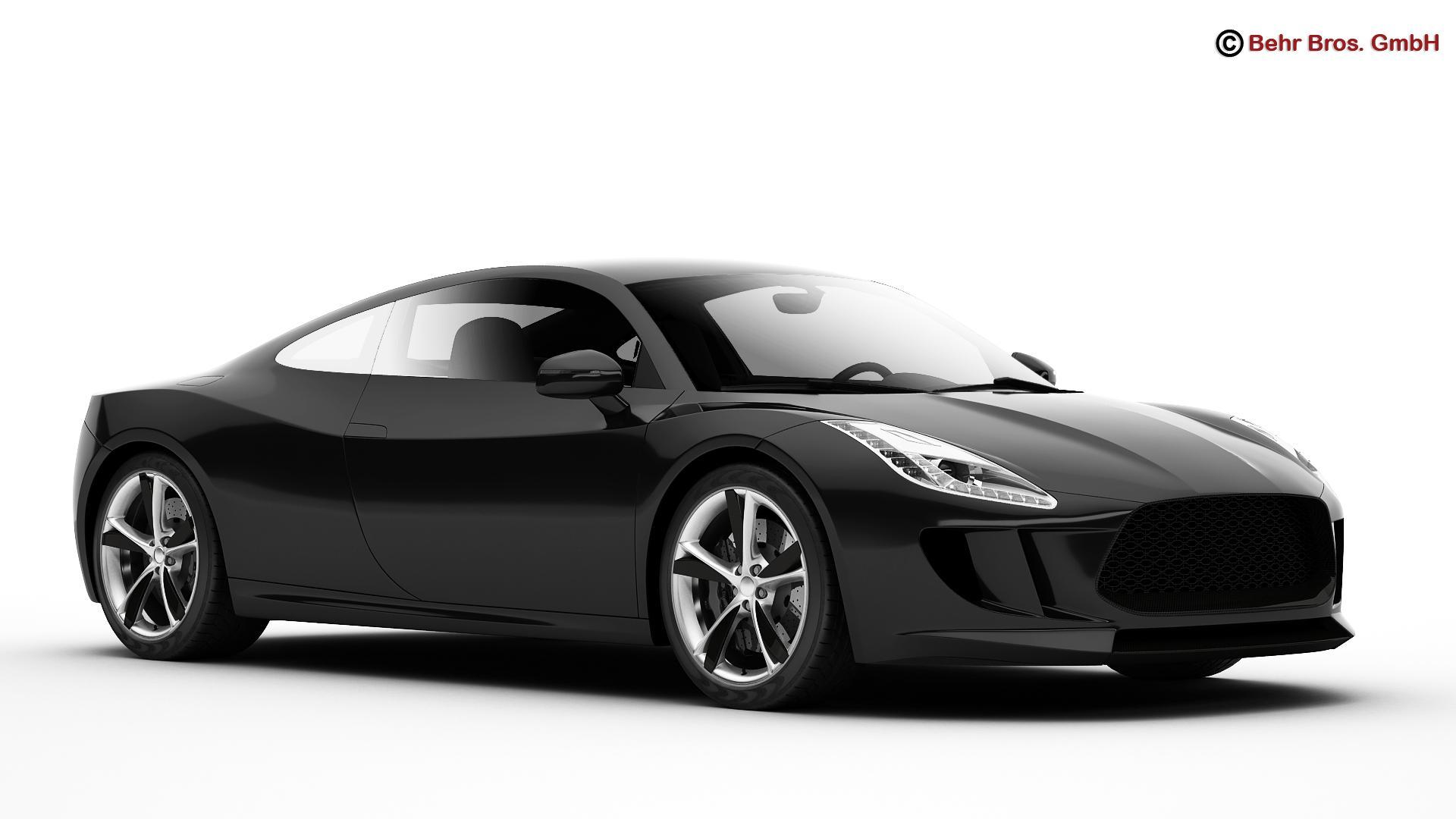 generic sports car 3d model 3ds max fbx c4d lwo ma mb obj 160526