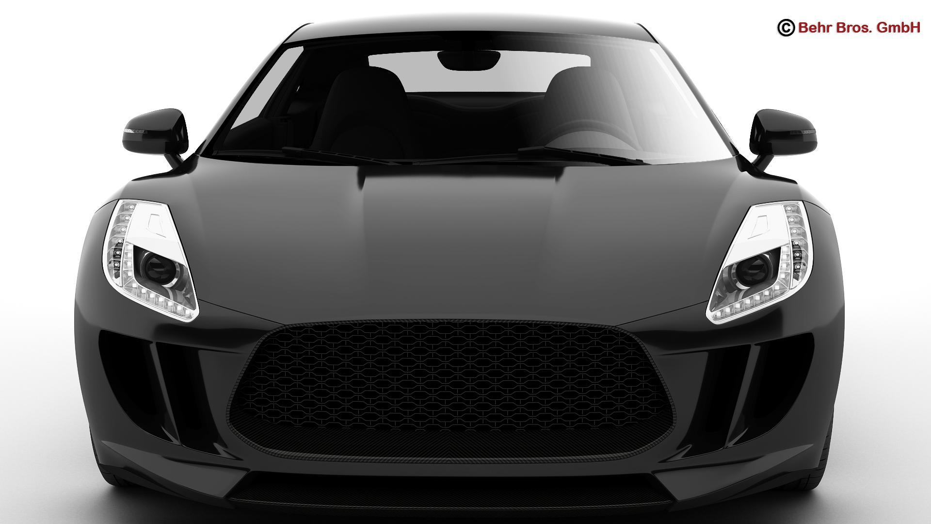 generic sports car 3d model 3ds max fbx c4d lwo ma mb obj 160527