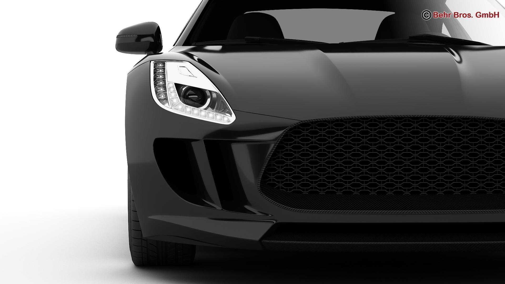 generic sports car 3d model 3ds max fbx c4d lwo ma mb obj 160528