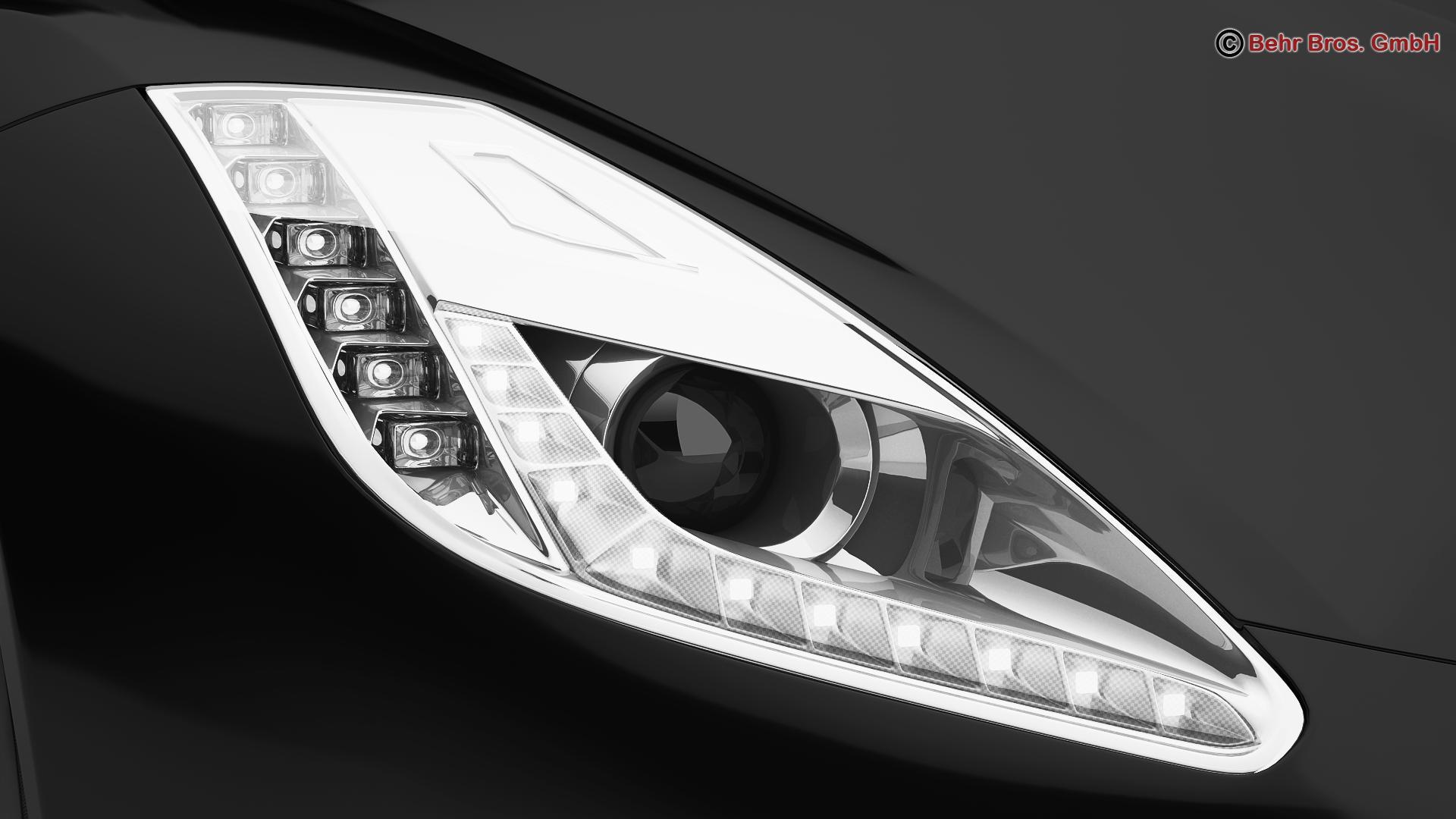 generic sports car 3d model 3ds max fbx c4d lwo ma mb obj 160530