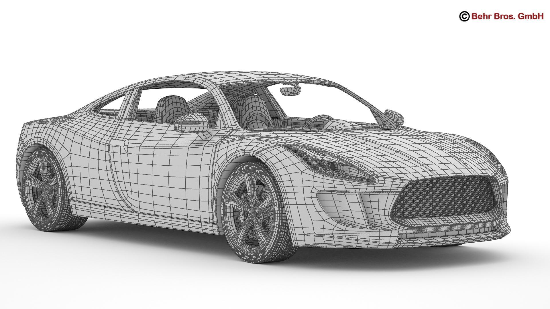 generic sports car 3d model 3ds max fbx c4d lwo ma mb obj 160535