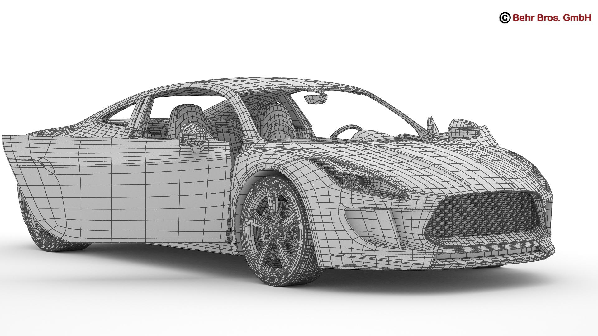 generic sports car 3d model 3ds max fbx c4d lwo ma mb obj 160536