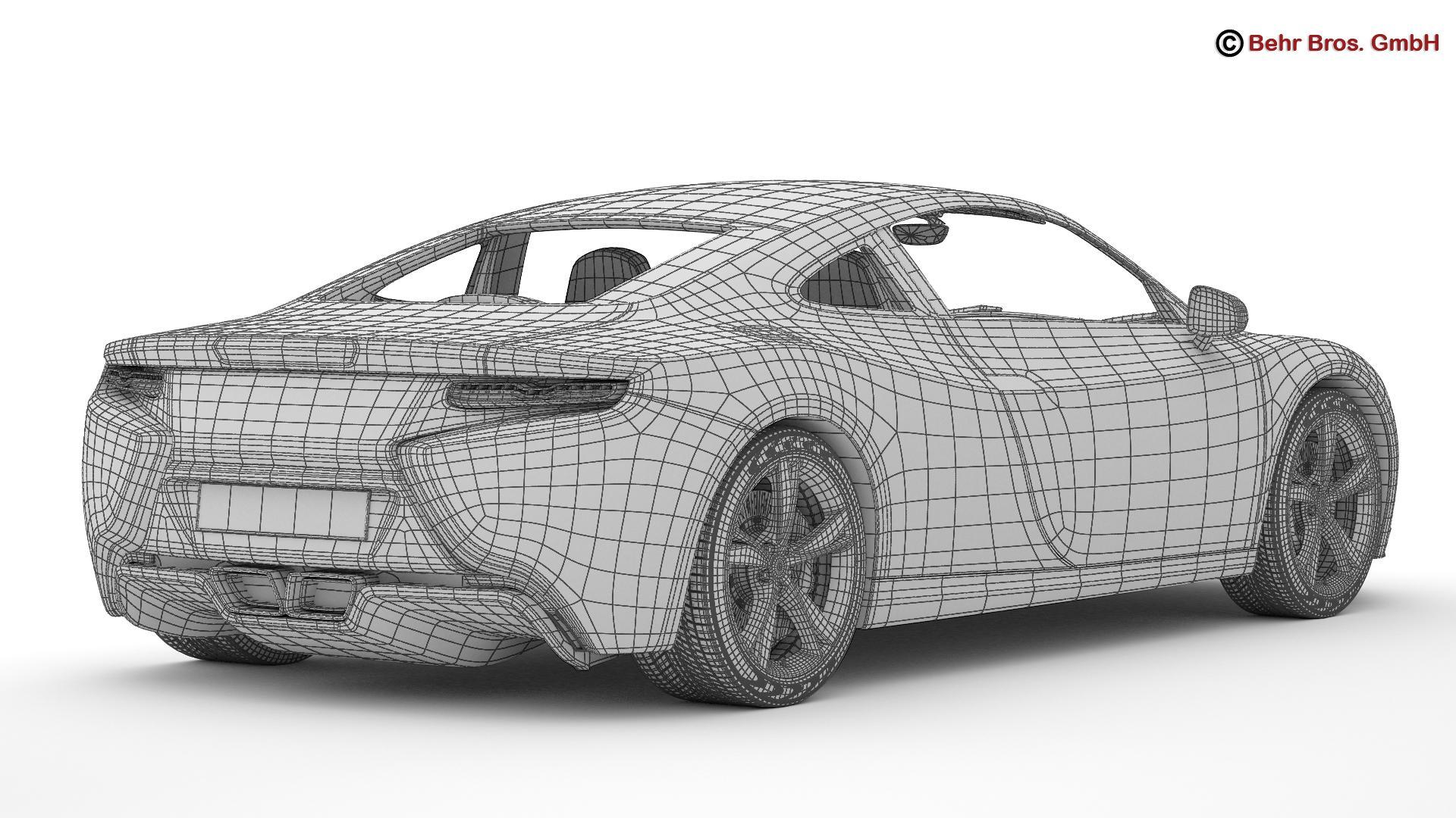 generic sports car 3d model 3ds max fbx c4d lwo ma mb obj 160537