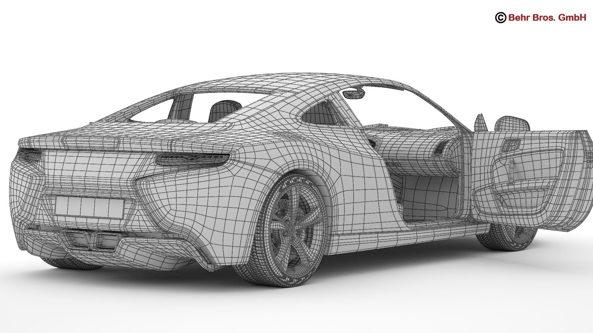 generic sports car 3d model 3ds max fbx c4d lwo ma mb obj 160538