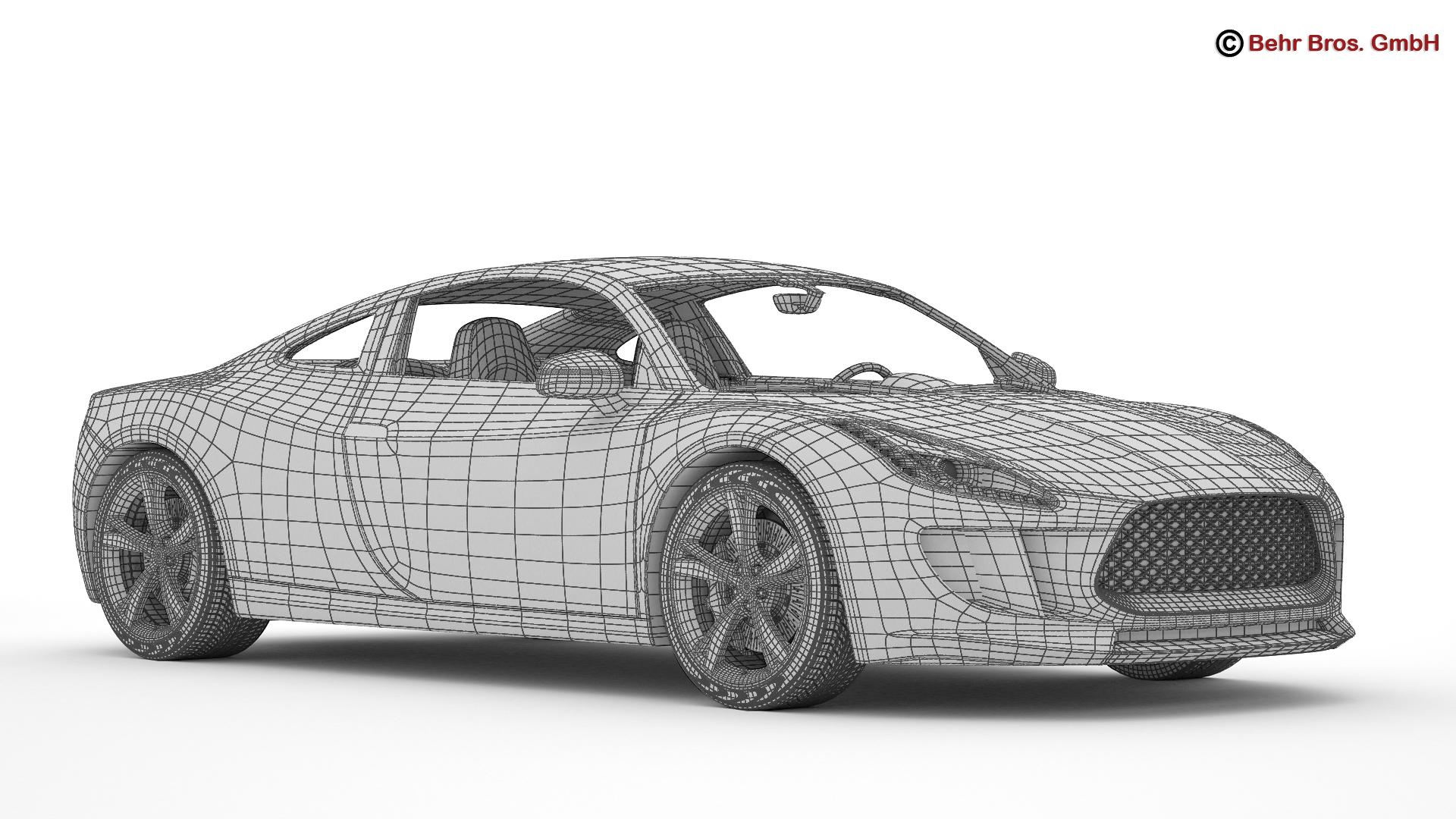 generic sports car 3d model 3ds max fbx c4d lwo ma mb obj 160540