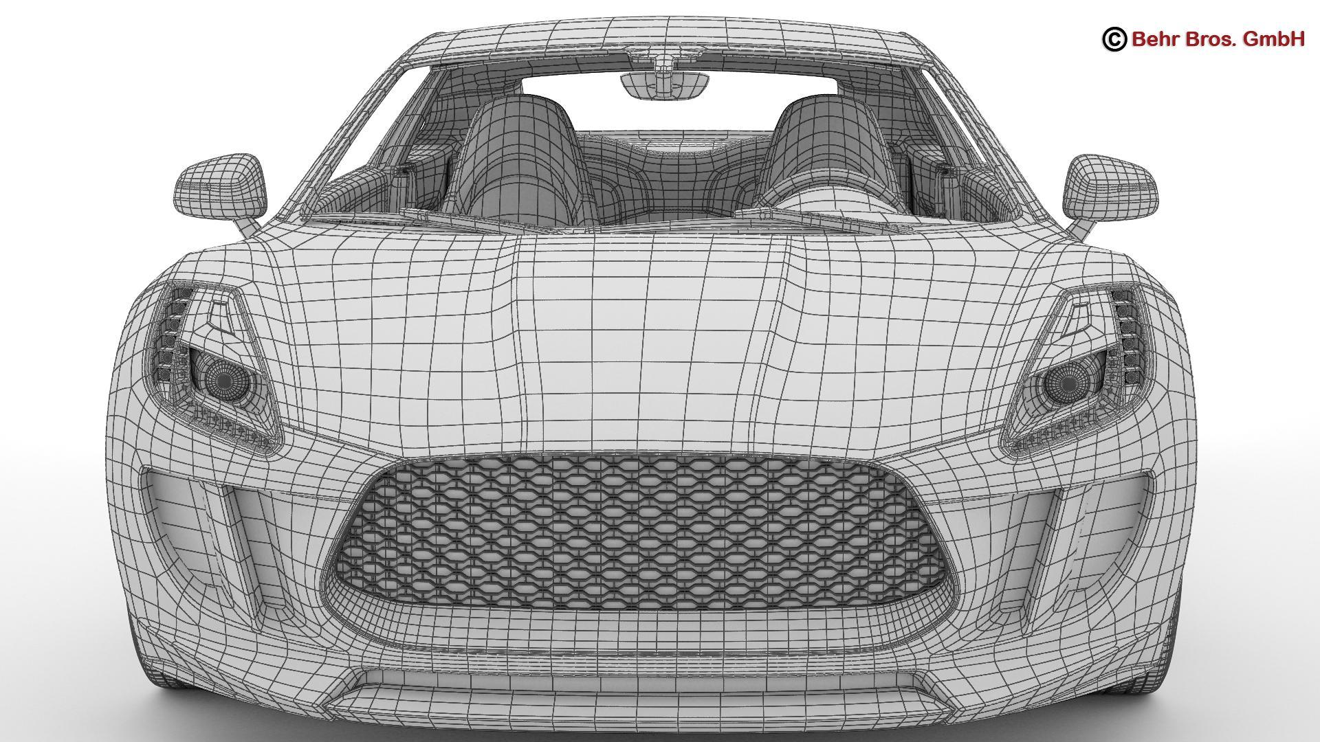 generic sports car 3d model 3ds max fbx c4d lwo ma mb obj 160541