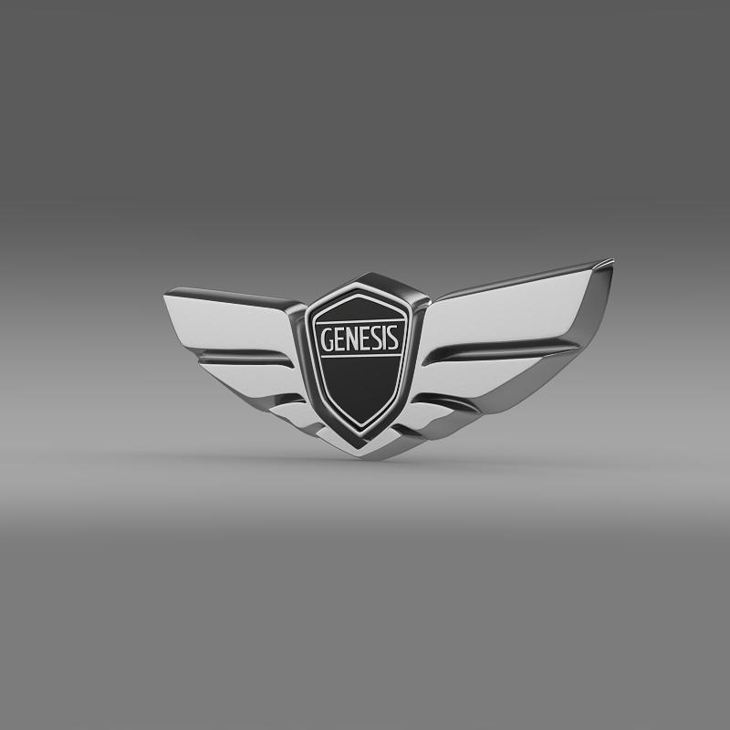 genesis logo 3d model 3ds max fbx c4d lwo ma mb hrc xsi obj 150470
