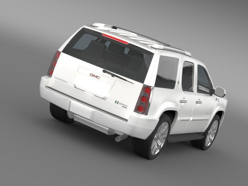 gmc denali hybrid 2013 3d model 3ds max fbx c4d lwo ma mb hrc xsi obj 154058