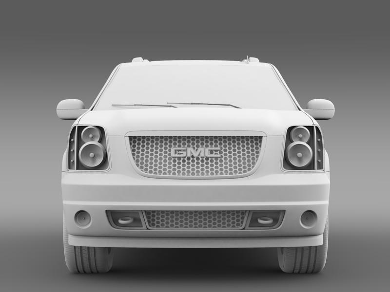 gmc denali hybrid 2013 3d model 3ds max fbx c4d lwo ma mb hrc xsi obj 154072