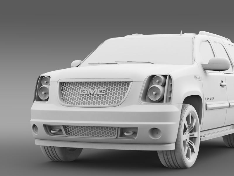 gmc denali hybrid 2013 3d model 3ds max fbx c4d lwo ma mb hrc xsi obj 154074