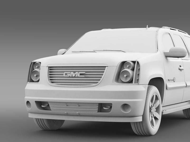 gmc yukon heritage edition 2012 3d model 3ds max fbx c4d lwo ma mb hrc xsi obj 153859