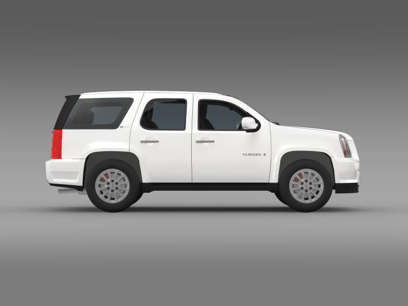 gmc yukon hybrid 2008 3d model 3ds max fbx c4d lwo ma mb hrc xsi obj 154321
