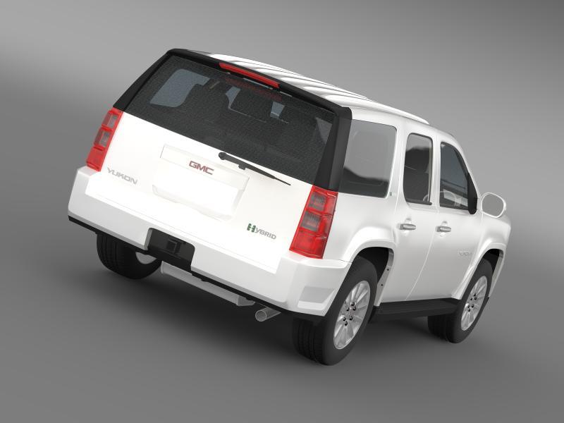 gmc yukon hybrid 2008 3d model 3ds max fbx c4d lwo ma mb hrc xsi obj 154324