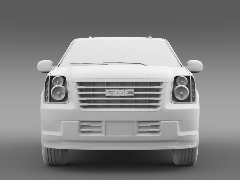 gmc yukon hybrid 2008 3d model 3ds max fbx c4d lwo ma mb hrc xsi obj 154326