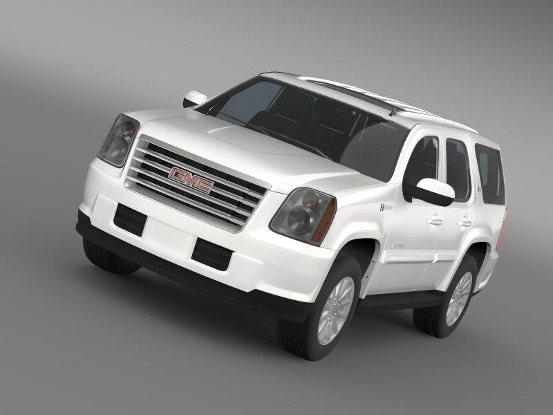 gmc yukon hybrid 2013 3d model 3ds max fbx c4d lwo ma mb hrc xsi obj 154332
