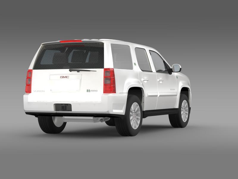 gmc yukon hybrid 2013 3d model 3ds max fbx c4d lwo ma mb hrc xsi obj 154340