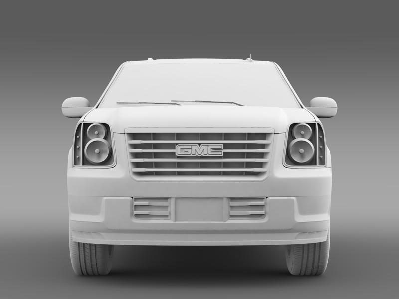 gmc yukon hybrid 2013 3d model 3ds max fbx c4d lwo ma mb hrc xsi obj 154347