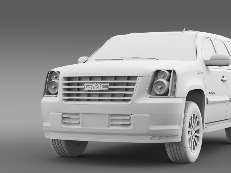 gmc yukon hybrid 2013 3d model 3ds max fbx c4d lwo ma mb hrc xsi obj 154349