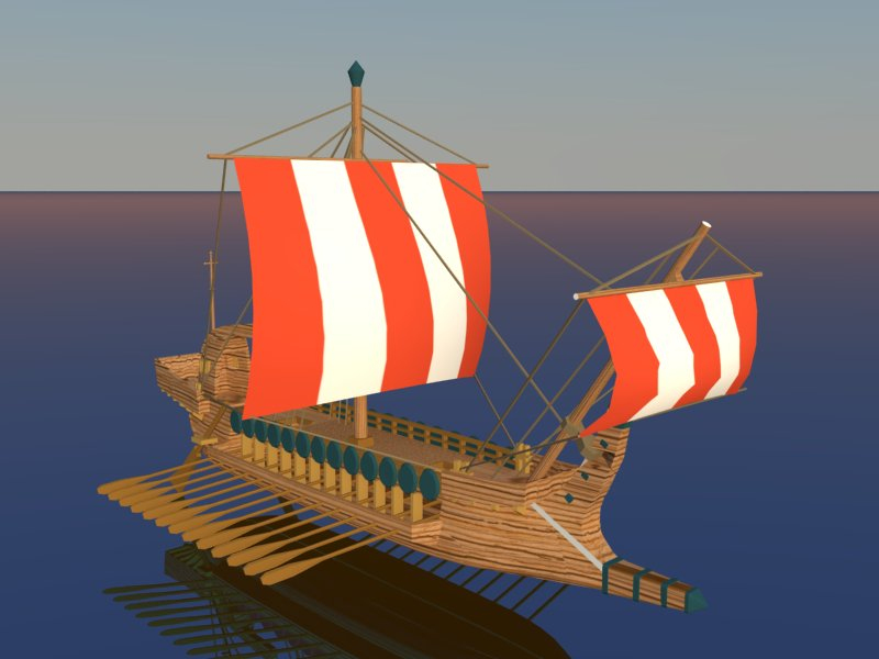 greek ship 3d model 3ds dxf dwg skp obj 163565
