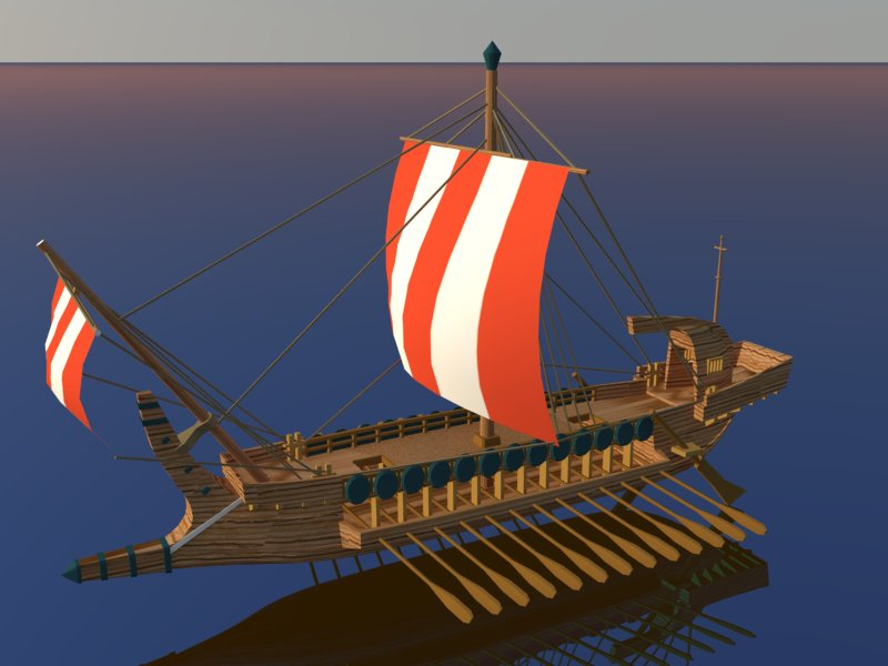 greek ship 3d model 3ds dxf dwg skp obj 163566