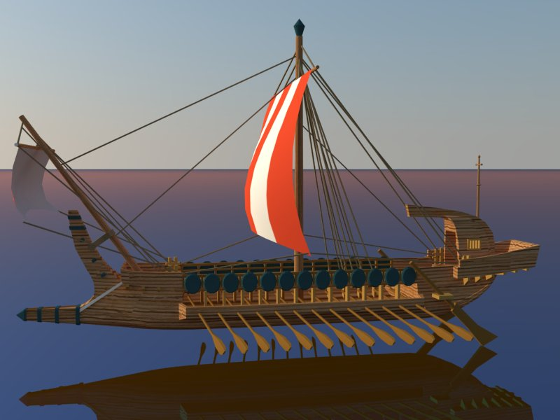 greek ship 3d model 3ds dxf dwg skp obj 163567