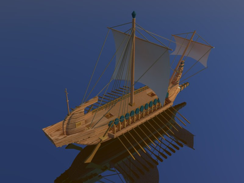 greek ship 3d model 3ds dxf dwg skp obj 163568